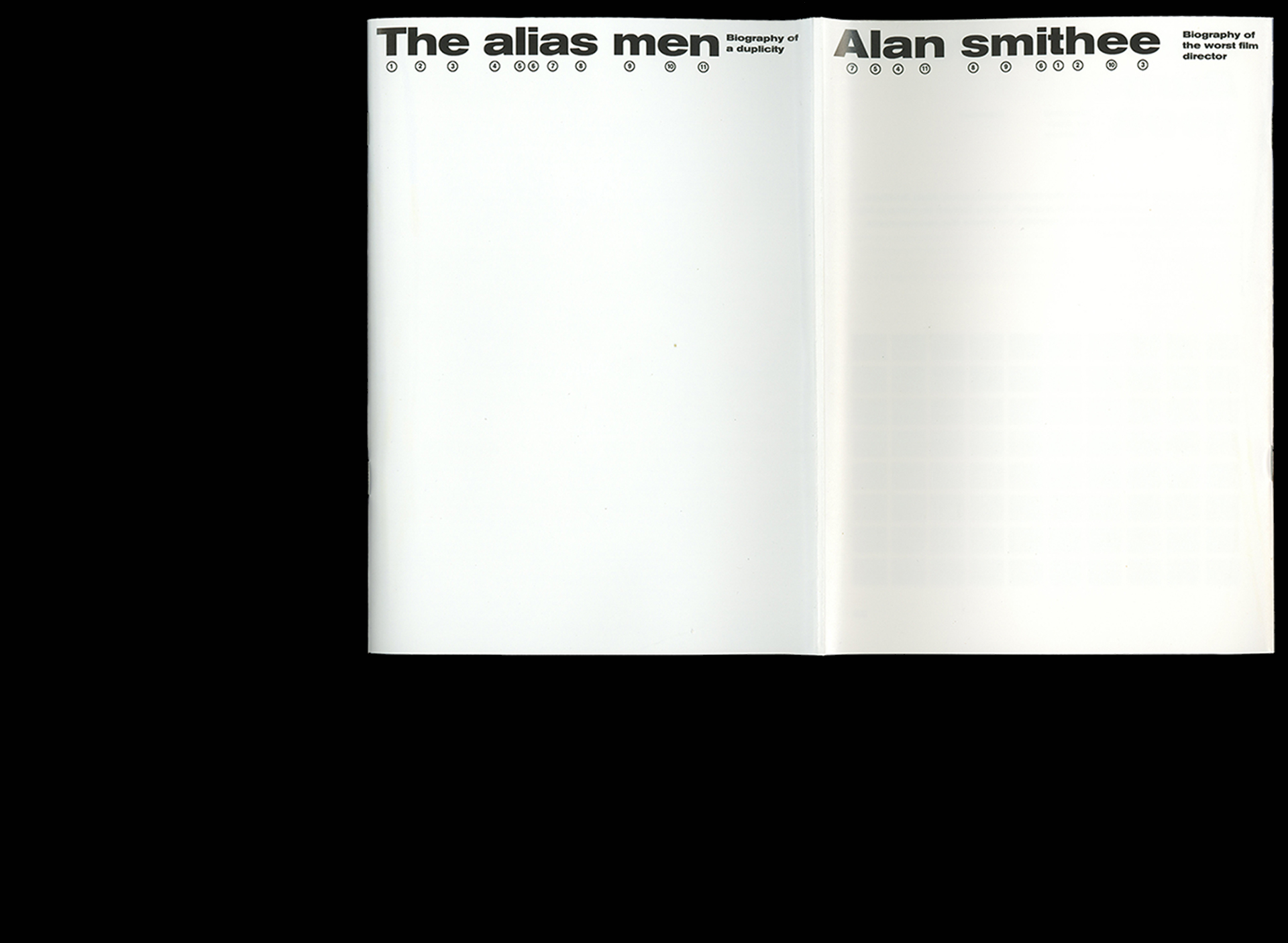 Alan Smithee/The Alias Men — Bookdesign